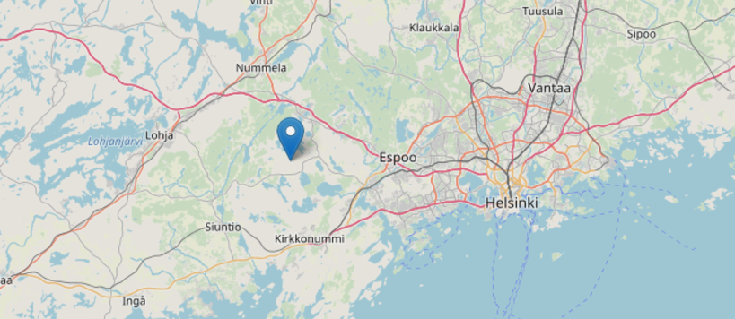 Metsähovi on map