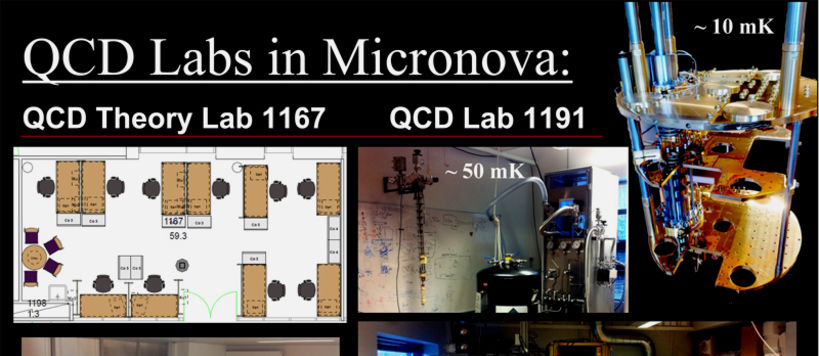 Cryostats and measurement equipment in QCD Labs