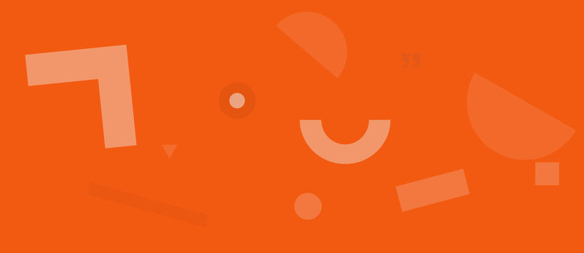 Drupal image for Comms use only. Abstract graphic with orange semi-circles and squares on a red background..