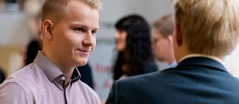 Students of Aalto University at ARENA 2018 Career Fair. / Photographer Rasmus Karppinen.