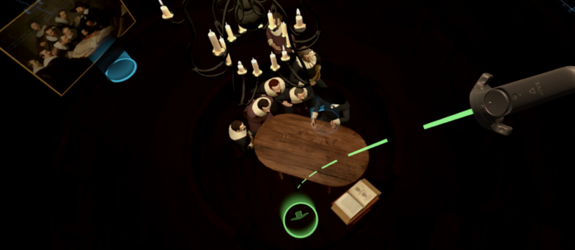 Screenshot from Interactive Diorama - Rembrandt 1632