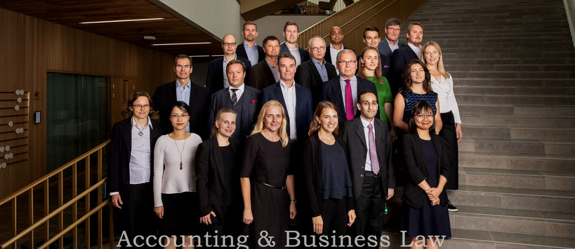 Department of Accounting group photo by Heidi Kouvo