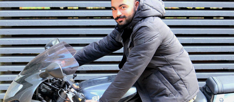 Aalto University / man sitting on a motorcycle / Muhammad Ziaur Rehman