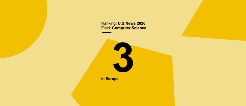 Computer Science field in Aalto University ranked third in Europe by U.S.News 2020 Best Global Universities Ranking