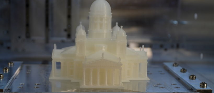 Mehta Heino 3D printer printing the Helsinki Cathedral