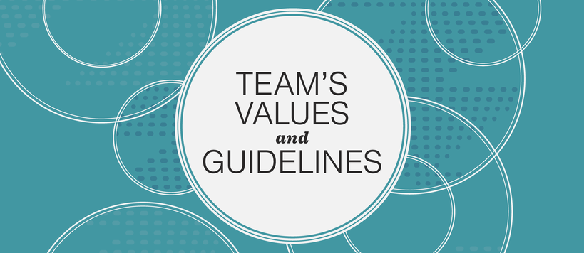 Team's Values and Guidelines Banner