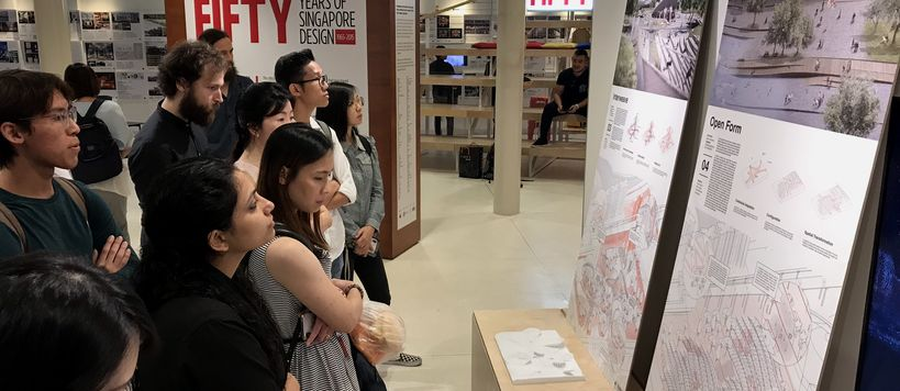 Student exhibition is on display at the Singapore National Design Centre