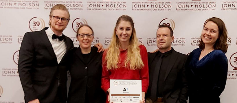 School of Business Team in the 39th John Molson case competition