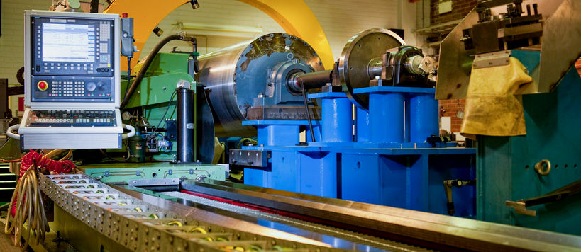 Photograph of machinery at ENG workshop