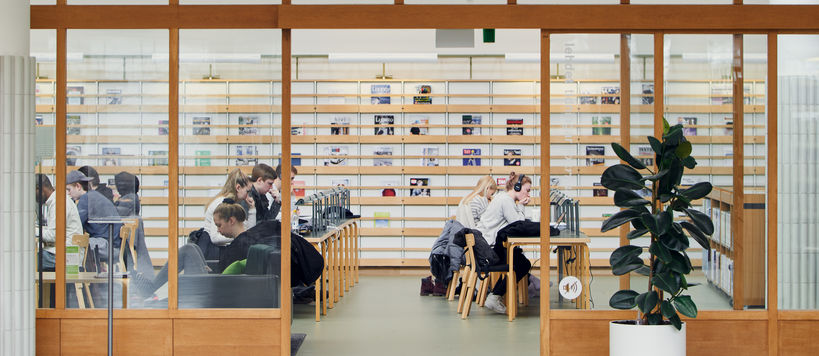 Students in the Aalto University Learning Centre / photo by Unto Rautio