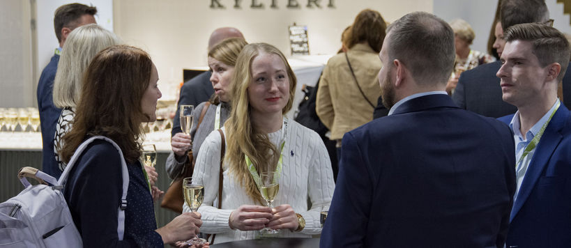 Better Business - Better Society seminar in December 2019, School of Business alumni networking after the seminar