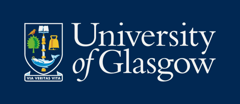 The University of Glasgow official logo consists of the coat of arms and the University of Glasgow logotype