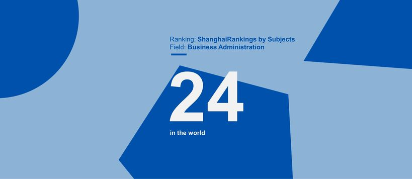 ShanghaiRankings by subject 2020, Aalto is 24th in the world in Business Administration