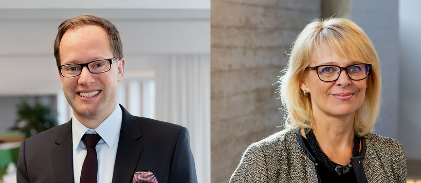Vice Deans of School of Business: Tomas Falk and Virpi Tuunainen