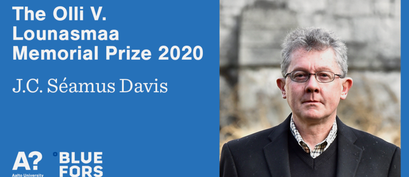 The Olli V Lounasmaa Memorial Prize 2020 awarded to JC Séamus Davis
