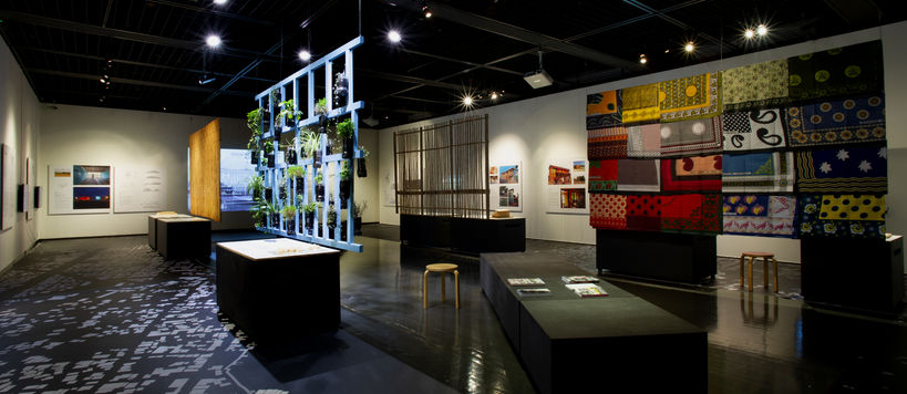exhibition offers photos, textiles and structures