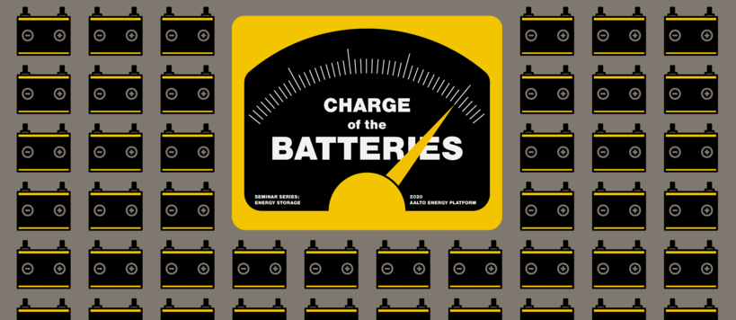 Charge of the Batteries seminar series logo