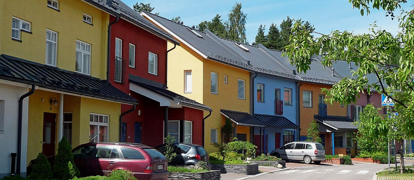 Townhouses in Malminkartano. Photo: Eija Hasu