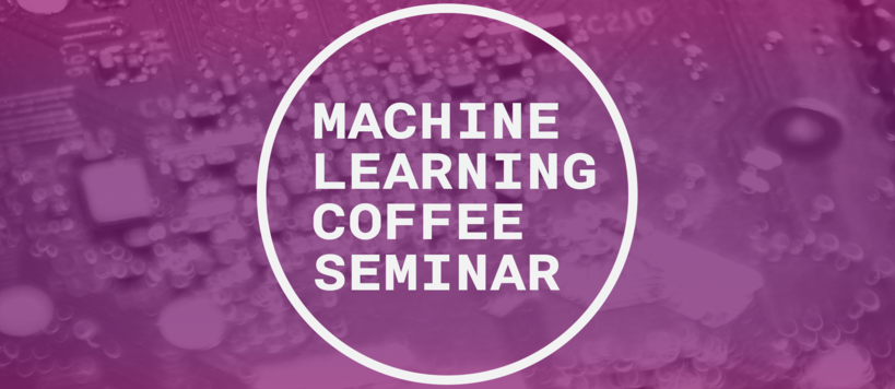 Machine Learning Coffee Seminar logo in purple and white colours