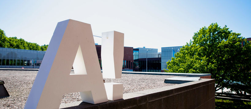 A-logo at Otaniemi. Photo: Mikko Raskinen / Aalto University