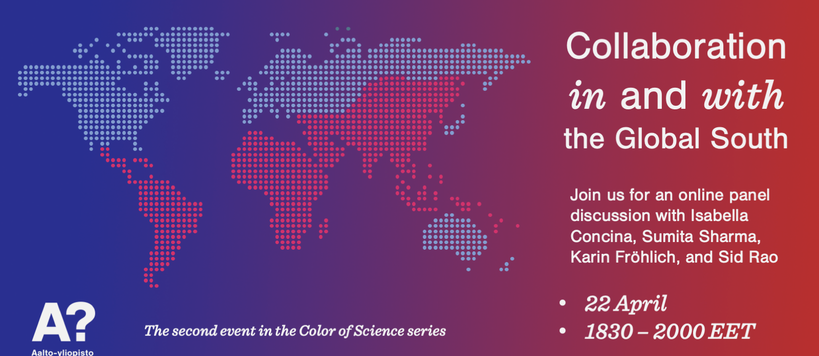 Flyer for the second color of science event 22 April
