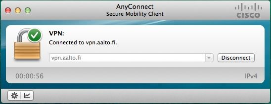 Establishing a remote connection (VPN) to an Aalto network