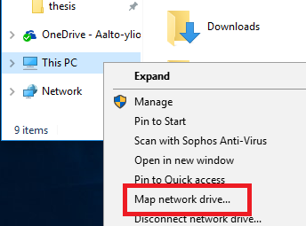 Windows network drive 9