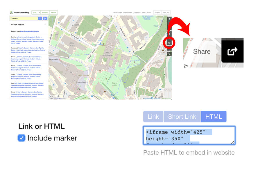 Location page: how to create it? | Aalto University
