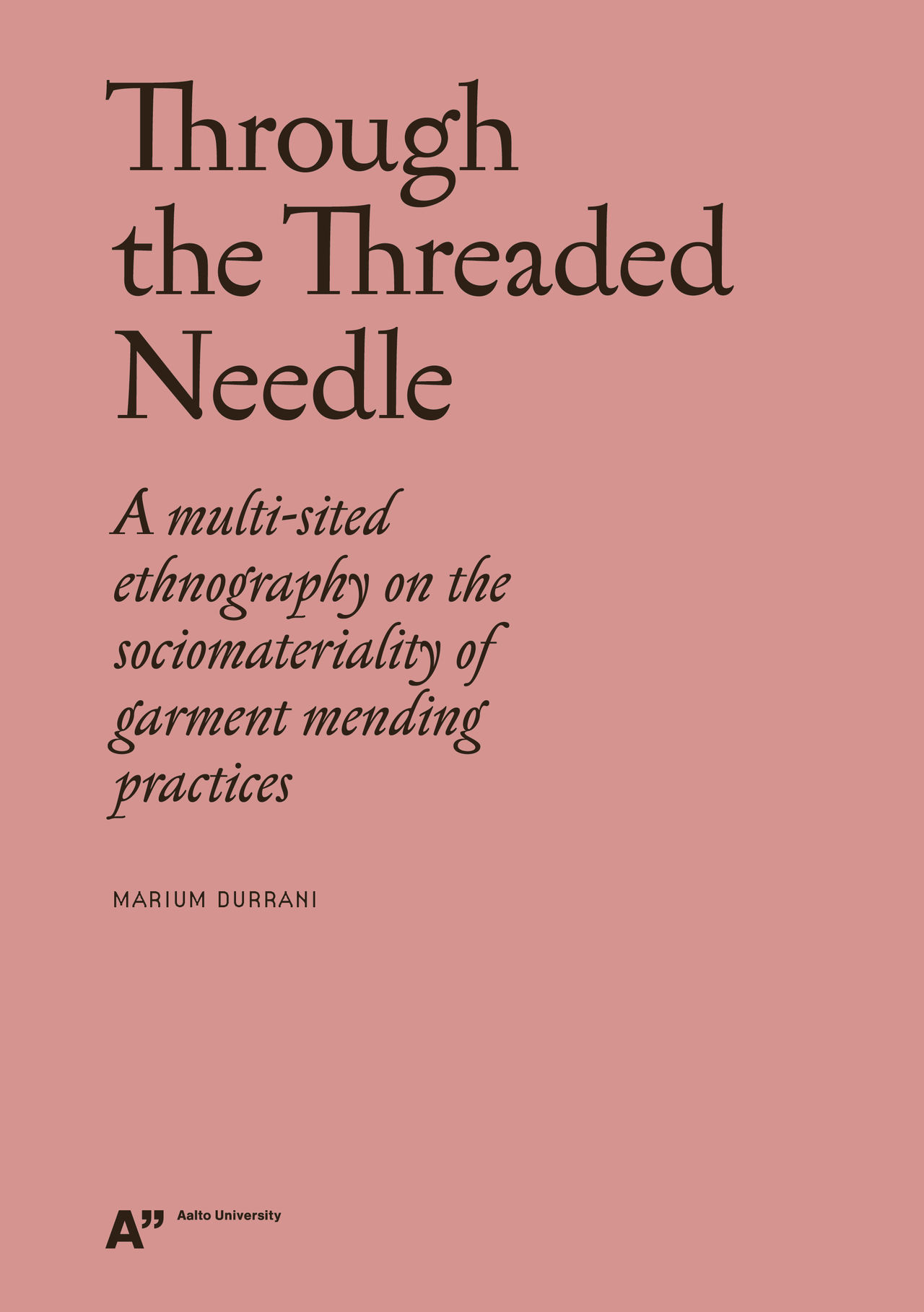 Through the Threaded Needle cover image