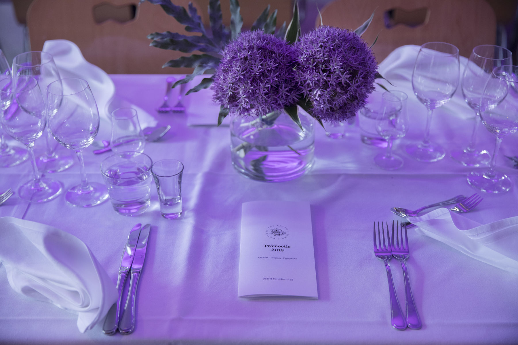 Dinner table setting