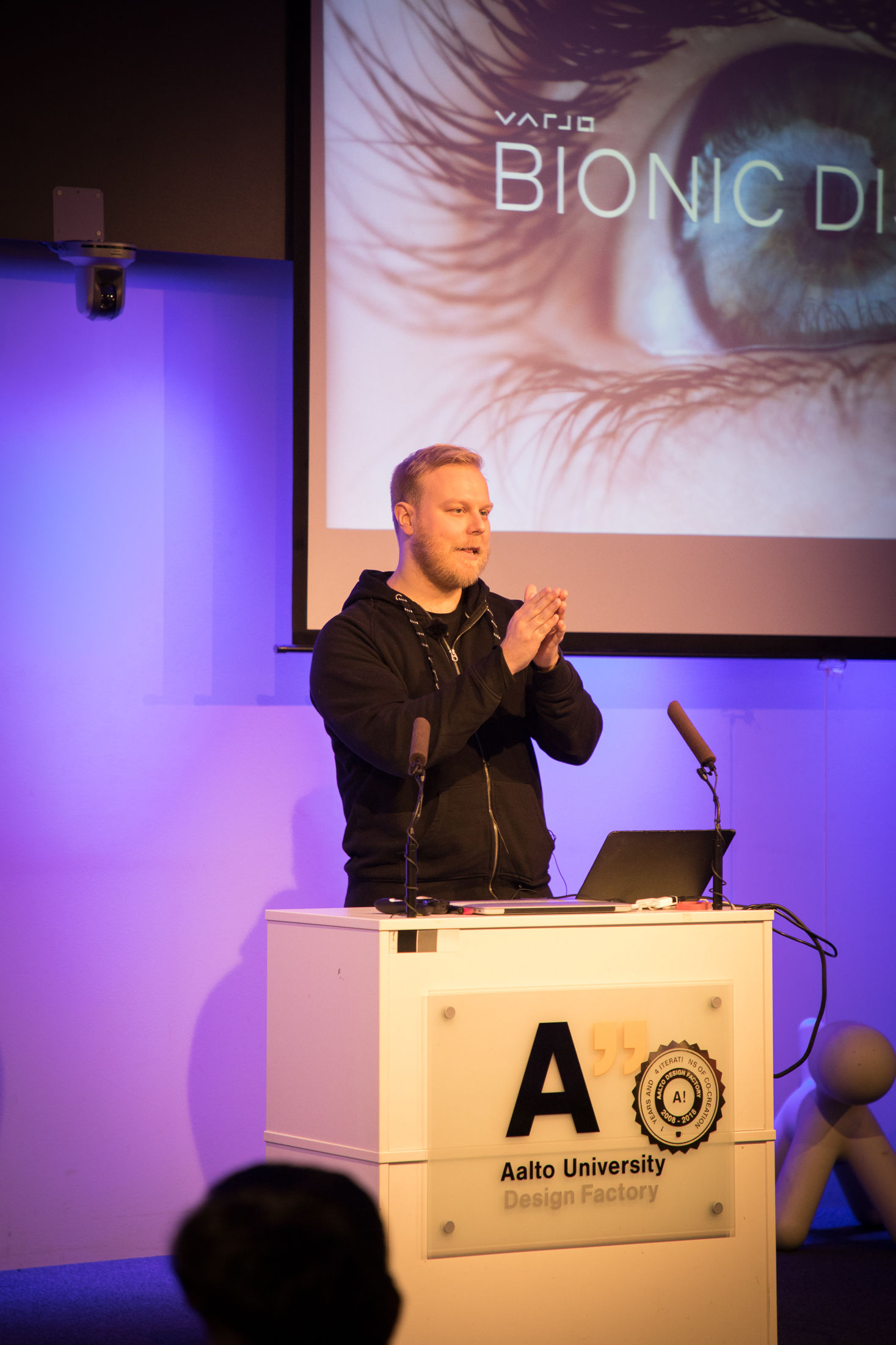 Antti Peuhkurinen gave a keynote at Aalto X Reality.