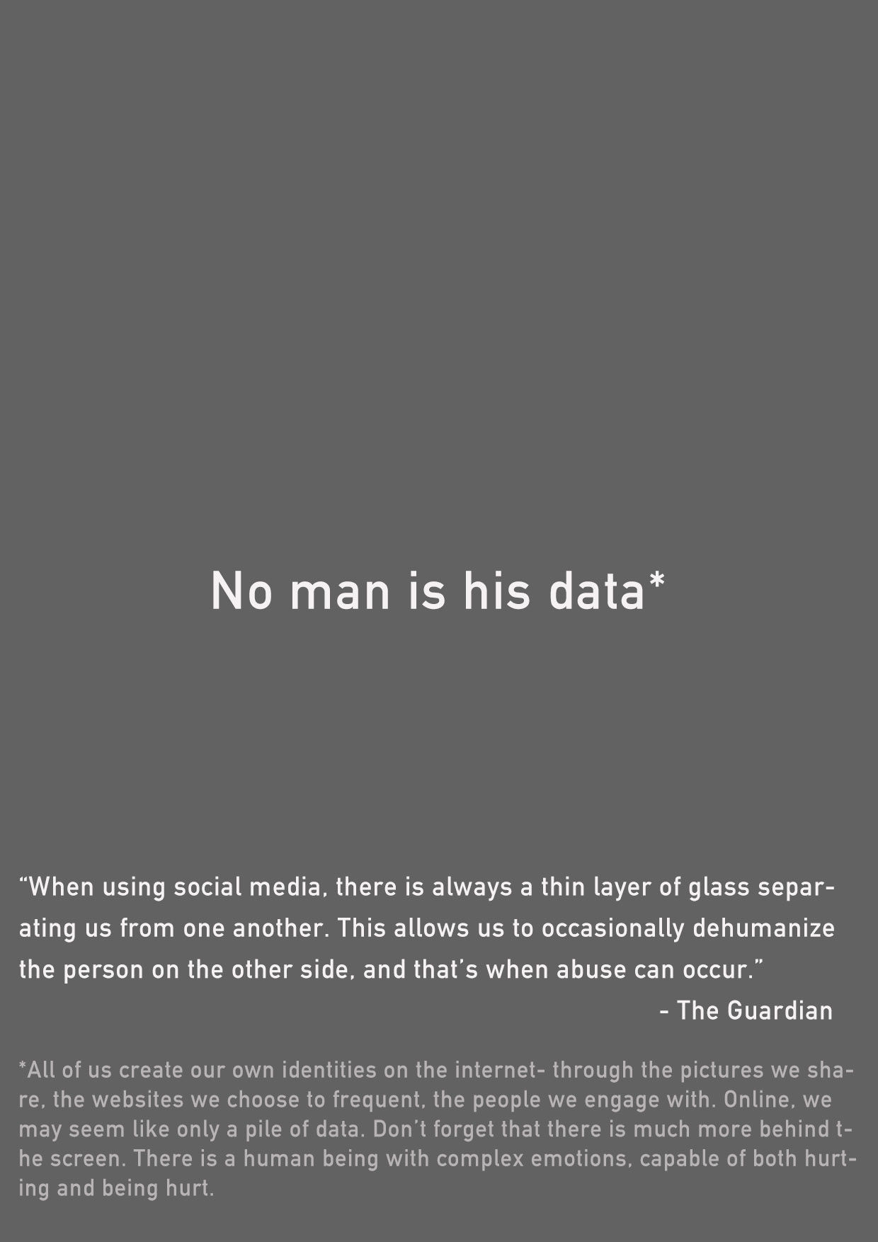 No man is his data