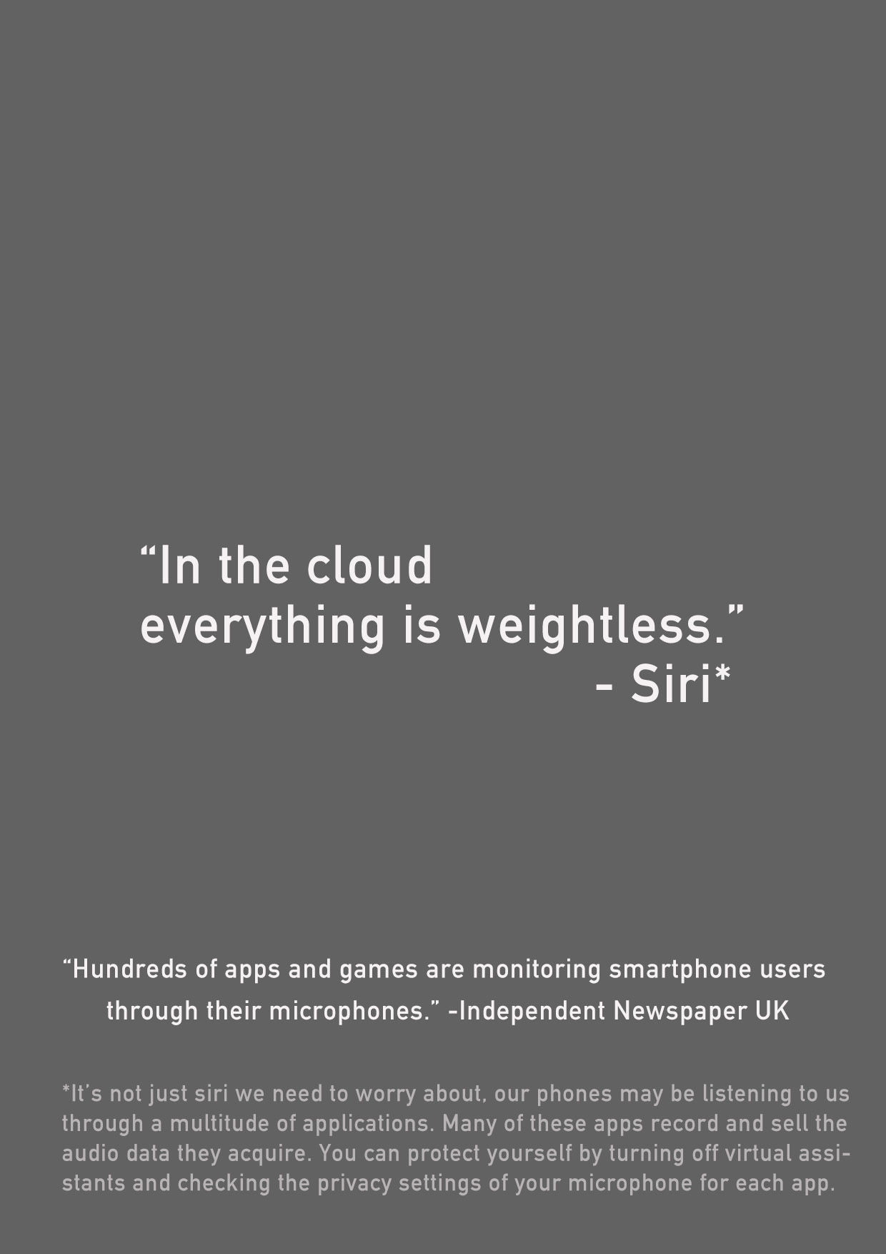 In the cloud, everything is weightless.