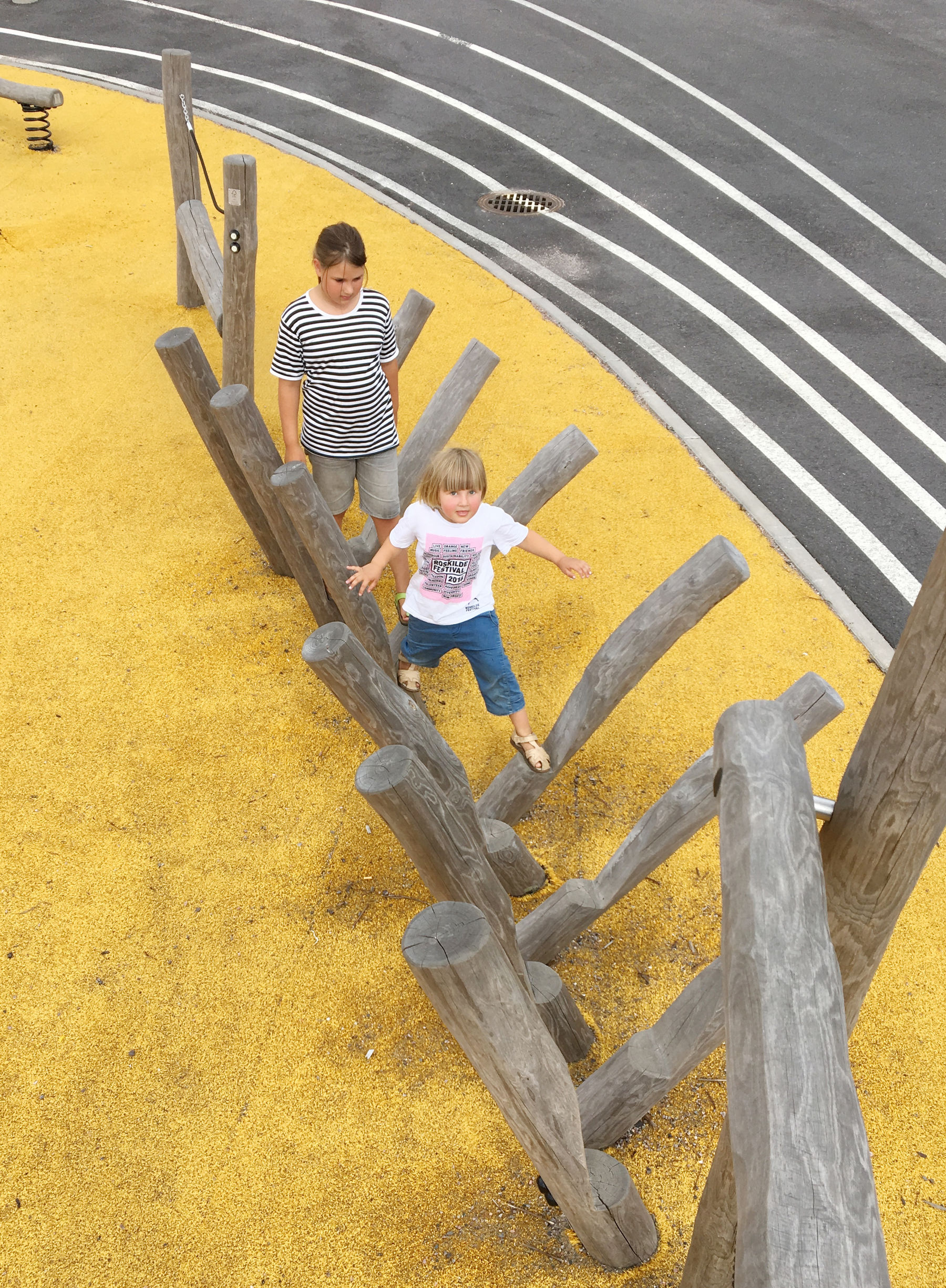 children on yellow playground
