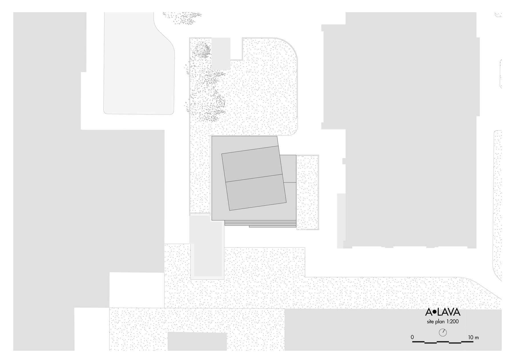 Top view drawing of the site of the A•LAVA summer theatre, Wood Program