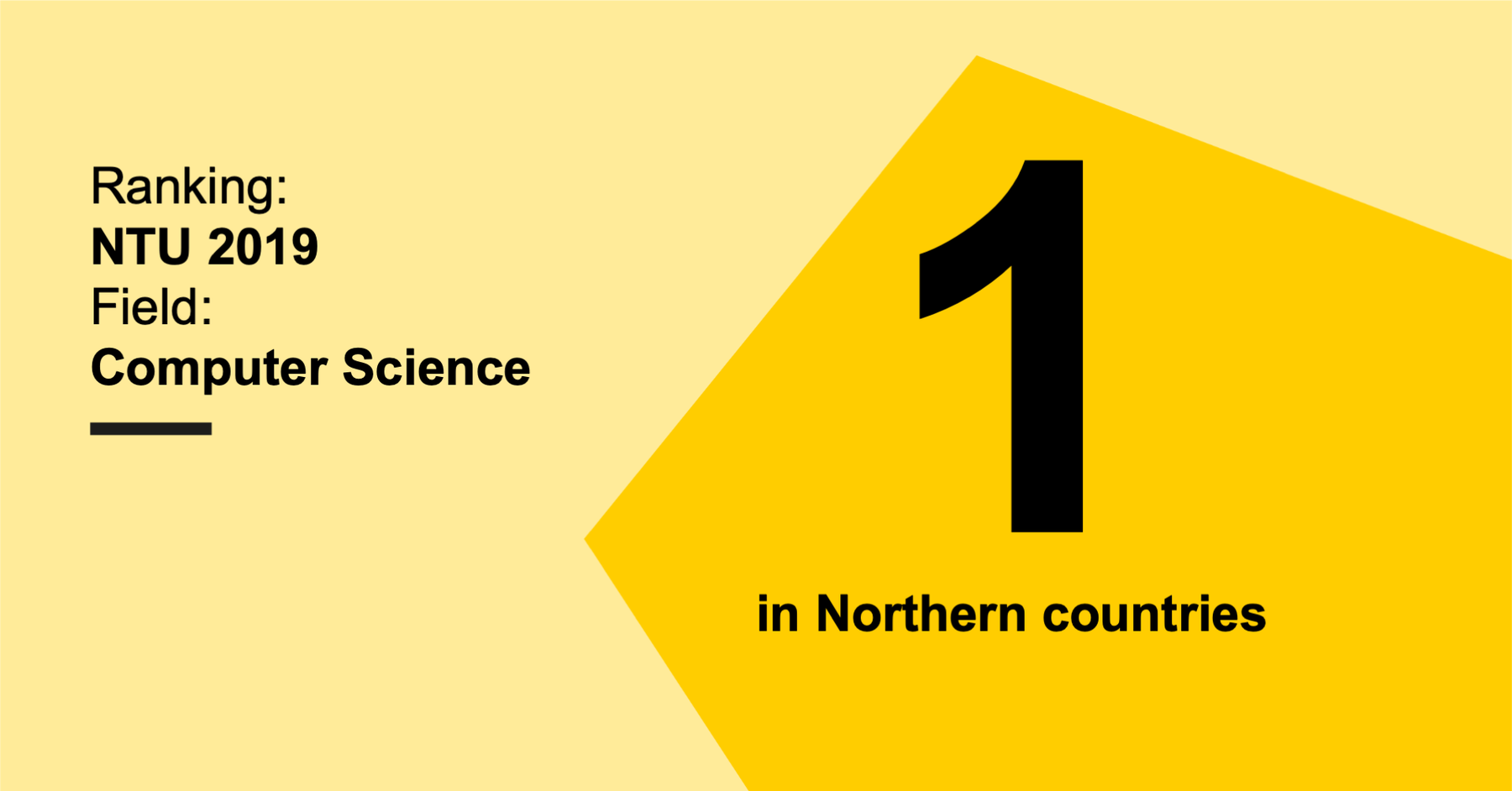 Computer Science in Aalto University is ranked first in northern countries by NTU 2019 Ranking