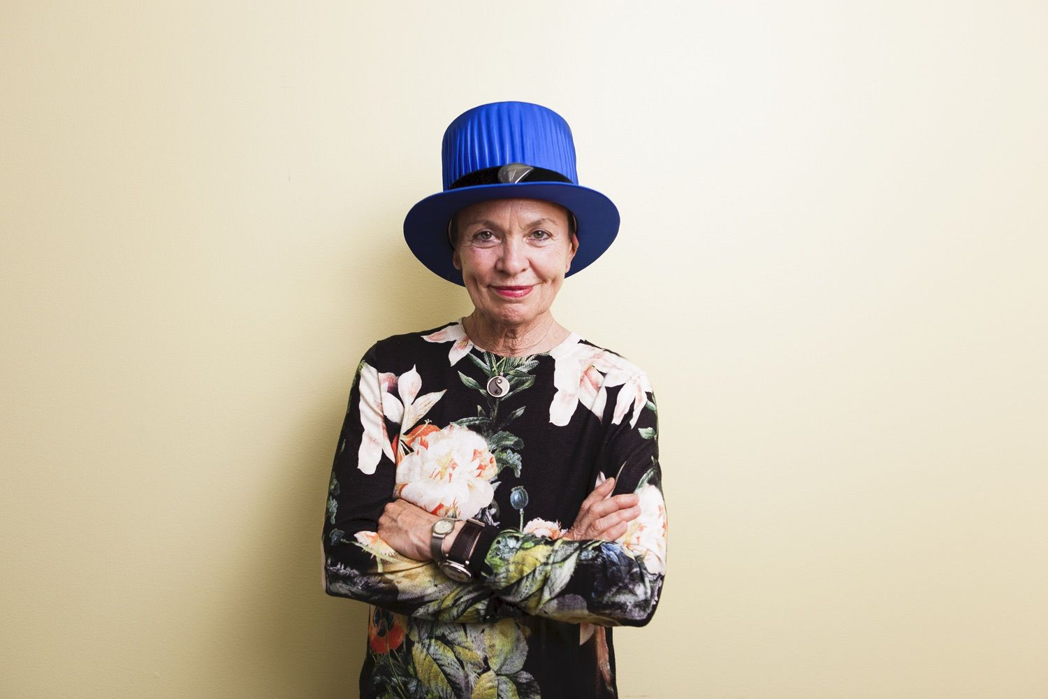 The 8th honorary doctor, artist Laurie Anderson received her honorary degree later on 23.8.2014. Photo: Heta Saukkonen