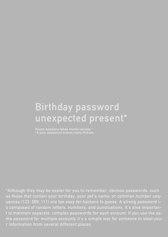 Birthday password, unexpected present