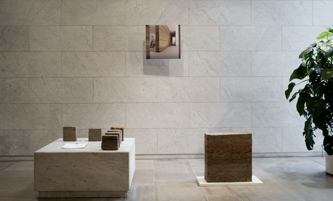 RAMMED EARTH. Paul Flanders and Lotta Harjula. Material: rammed earth with pigments