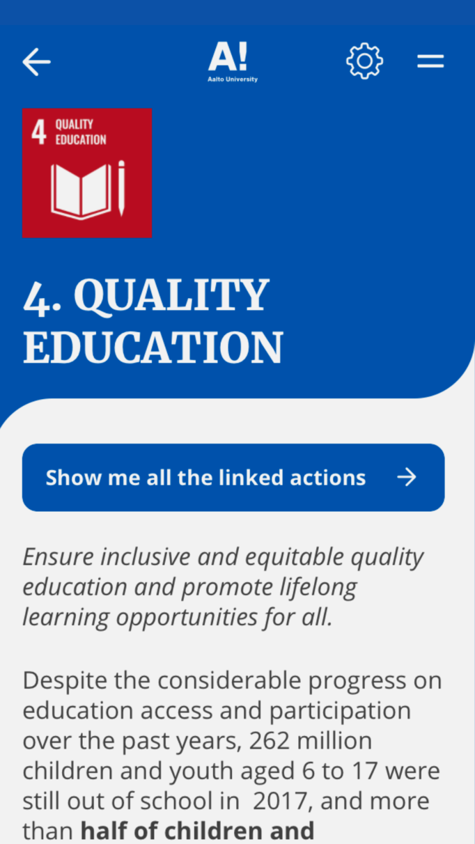 SDG number 4 - quality education