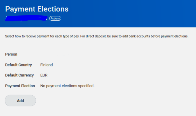 payment elections
