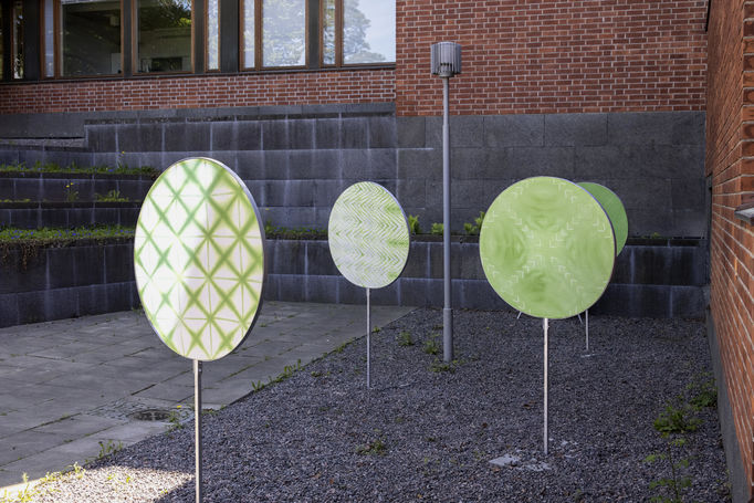 Crystal Flowers exhibition: Collineation Grounds: Shapes and Symmetries. Photo: Mikko Raskinen.