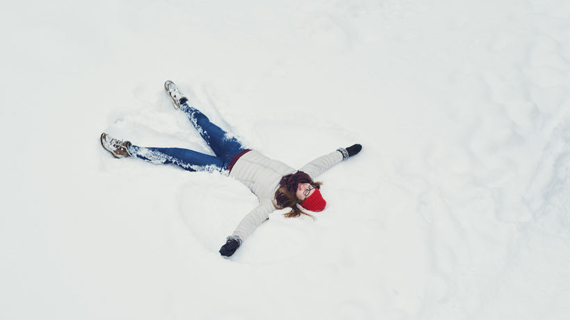 Living in Finland snow angel