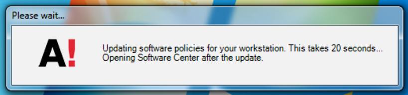 Updating software policies