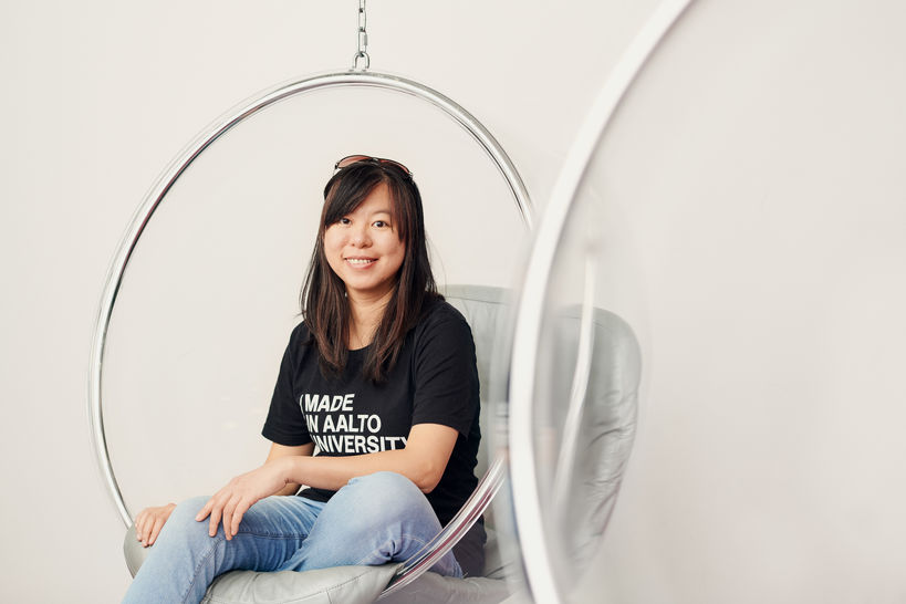 Portrait of master's student in Design Hsiao Pei
