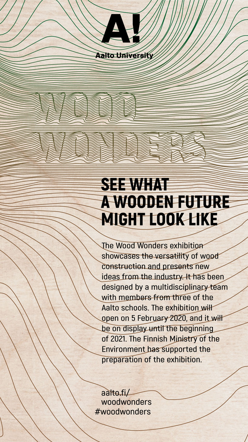 Wood Wonders exhibition poster by Cvijeta Miljak