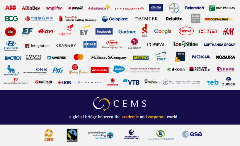 CEMS Corporate and Social Partners in 2020