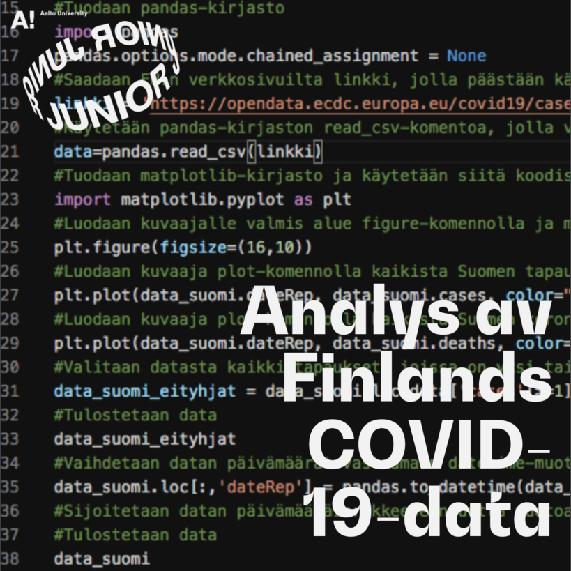 Aalto Junior online instructions for data anlysis