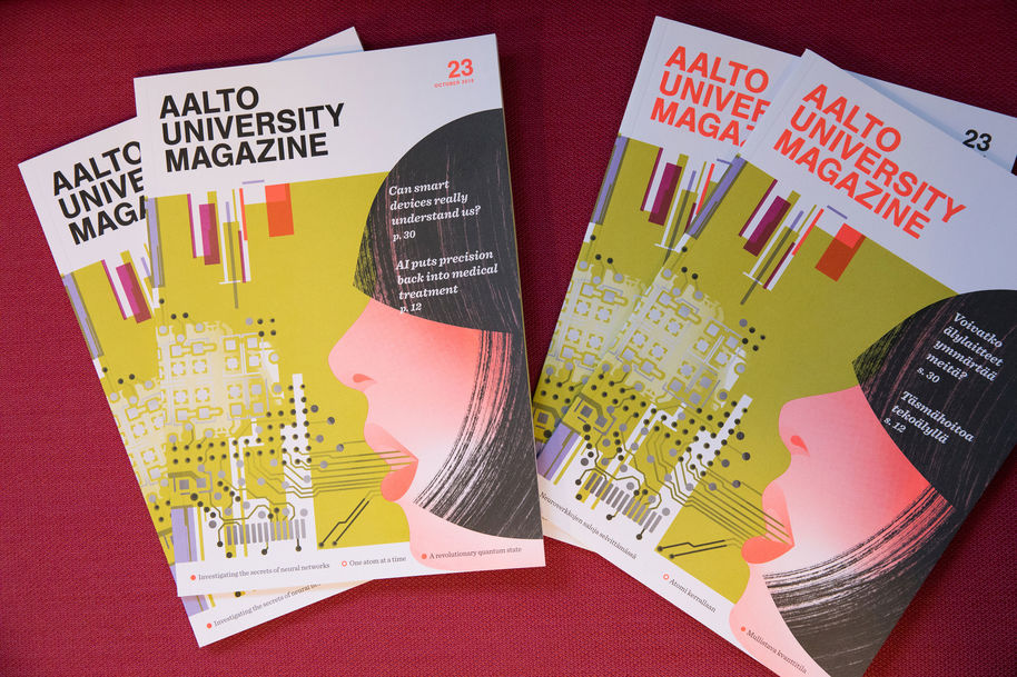 Aalto University Magazine 23. Photo: Anni Kääriä.