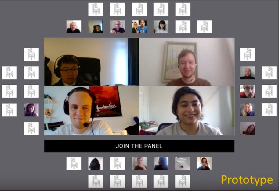 Video conference with a group of participants